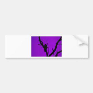 Gothic Crow on Purple Bumper Sticker