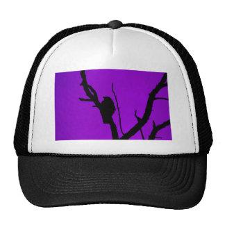 Gothic Crow on Purple Cap
