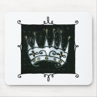 gothic crown mouse mat