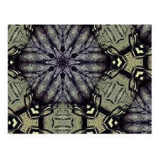 Gothic crypt mandala post card
