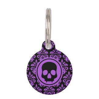 Gothic cute skull pet ID tag