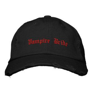 Gothic cute Vampire Bride Embroidered Hat