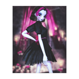 Gothic Cutie Wrapped Canvas Print