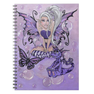 """Gothic Cuties"" cute fairy dragon NOTEBOOK"