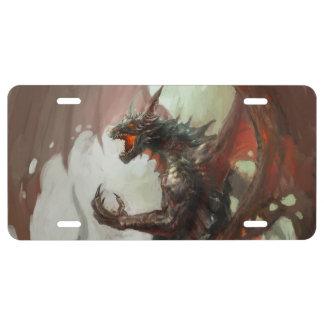 Gothic Dark Dragon License Plate