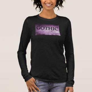 Gothic Dark Emo Violet Black Style Long Sleeve T-Shirt