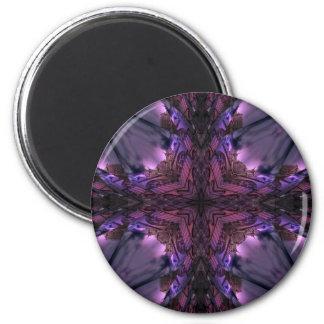 Gothic dark lace kaleidoscope magnet