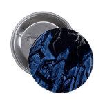 Gothic dark storm fantasy blue 6 cm round badge