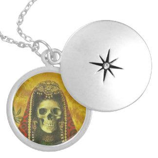 Gothic Decorative Skull Silver Locket