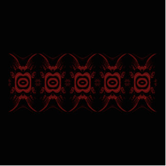 Gothic Deep Red and Black Floral design. Photo Sculpture