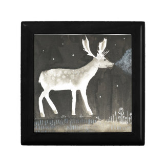 Gothic Deer, Stag at Night Ink Painting Gift Box