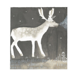 Gothic Deer, Stag at Night Ink Painting Notepad