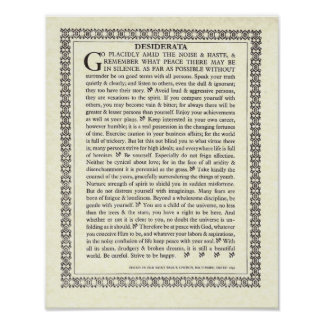 Gothic DESIDERATA Poster