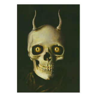 Gothic Devil Skull ACEO Business Card