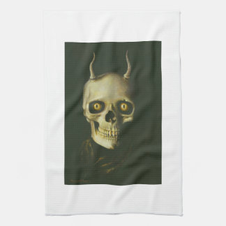 Gothic Devil Skull Kitchen Towel