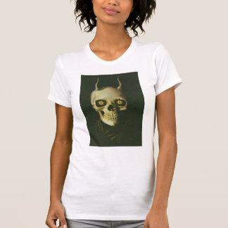 Gothic Devil Skull Ladies Destroyed T-Shirt