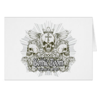 Gothic Doom Since 1989 ~ Skulls Wings Crown Cards