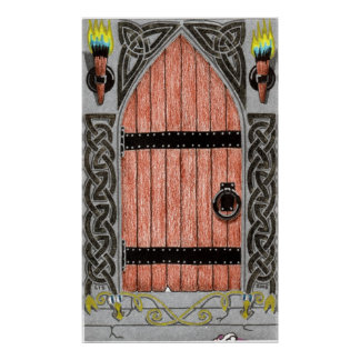 Gothic Door (color) print