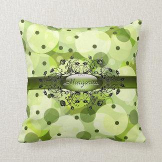 Gothic dots in jive green American MoJo Pillow Throw Cushion