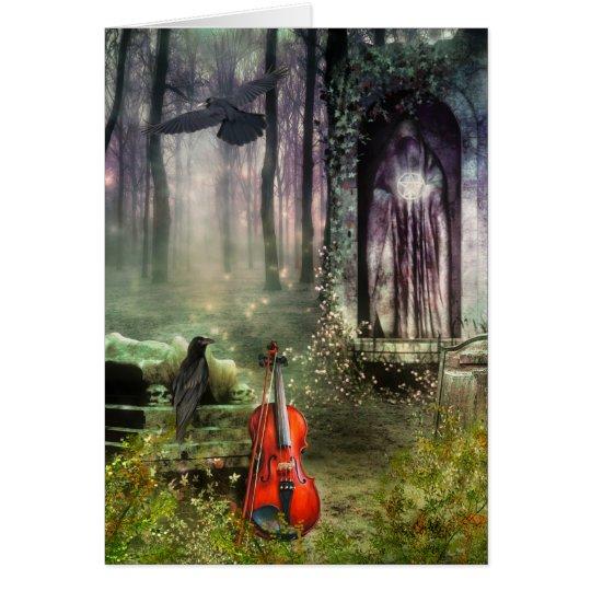 Gothic Dreamland Greeting Card