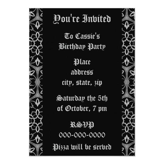 Gothic elegance Birthday Party Card