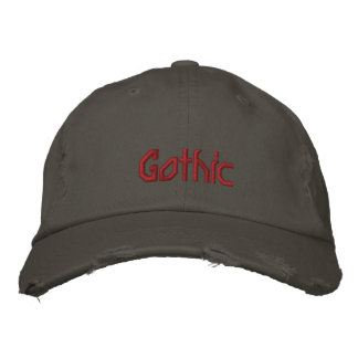 Gothic Embroidered Baseball Cap