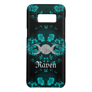 Gothic Eternal Triple Moon Turquoise Case-Mate Samsung Galaxy S8 Case