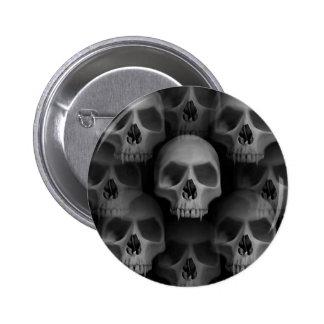 Gothic evil vampire fanged skulls Halloween horror 6 Cm Round Badge