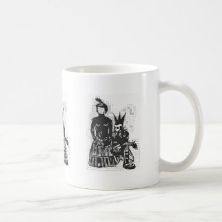 Gothic Faceless Woman and Punk Guy Mug