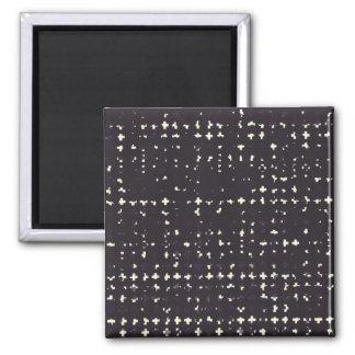 Gothic Faded Black Grunge Vintage Cross Pattern Fridge Magnet