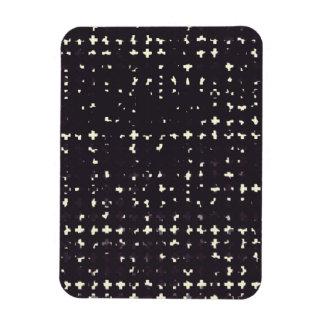 Gothic Faded Black Grunge Vintage Cross Pattern Vinyl Magnets