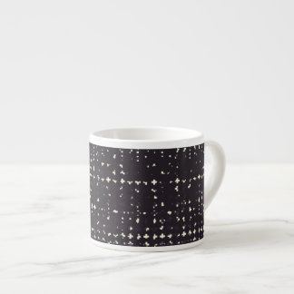 Gothic Faded Black Grunge Vintage Cross Pattern Espresso Cup