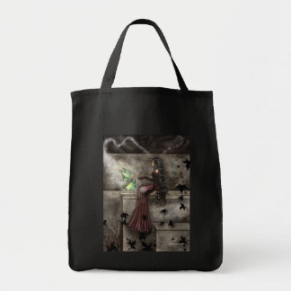 Gothic Fairy Autumn Grocery Tote Bag