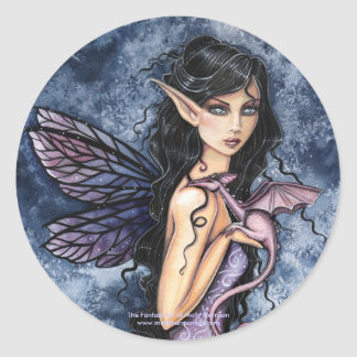 Gothic Fairy Dragon Sticker by Molly Harrison