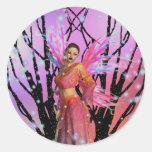 Gothic fairy fantasy round sticker