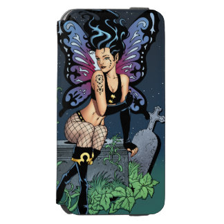 Gothic Fairy Grave Sitting with Tears by Al Rio Incipio Watson™ iPhone 6 Wallet Case