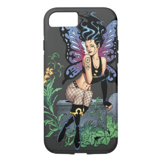 Gothic Fairy Grave Sitting with Tears by Al Rio iPhone 7 Case