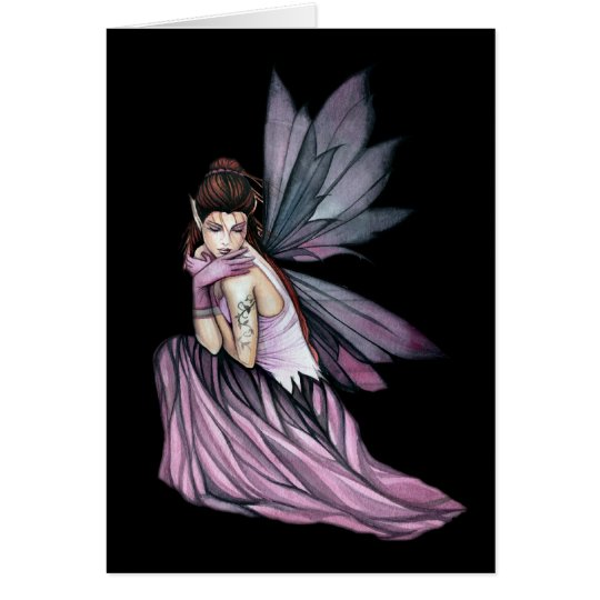 Gothic Fairy Greeting Card by Molly Harrison