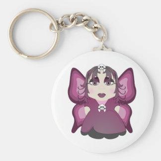 Gothic Fairy In Pink Keychains
