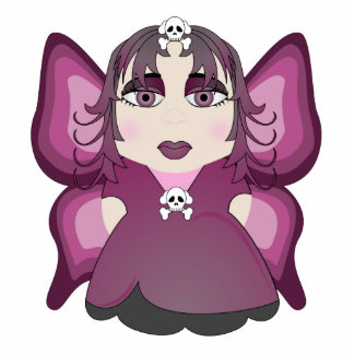 Gothic Fairy In Pink Cut Out