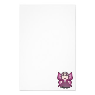 Gothic Fairy In Pink Stationery
