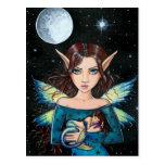 Gothic Fairy Mermaid Postcard by Molly Harrison