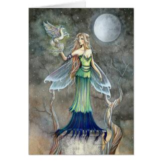 Gothic Fairy Pegasus Card ~ Blank