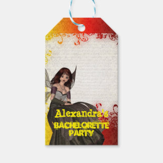 Gothic fairy personalized bachelorette party gift tags