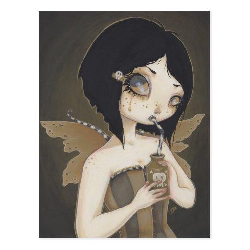 Gothic Fairy poison fantasy art postcard