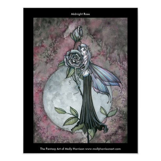 Gothic Fairy Poster 'Midnight Rose'