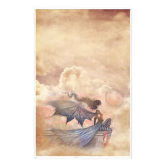 Gothic Fairy Vampire in Clouds Stationary Stationery Design