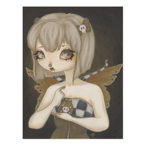 Gothic fairy with poison postcard Fantasy art