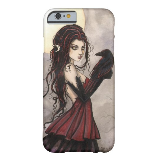 Gothic Fantasy Art Witch and Raven iPhone 6