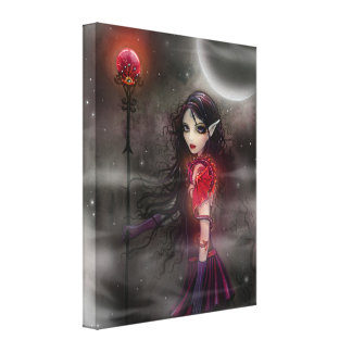 Gothic Fantasy Dragon Fairy Gallery Wrapped Canvas